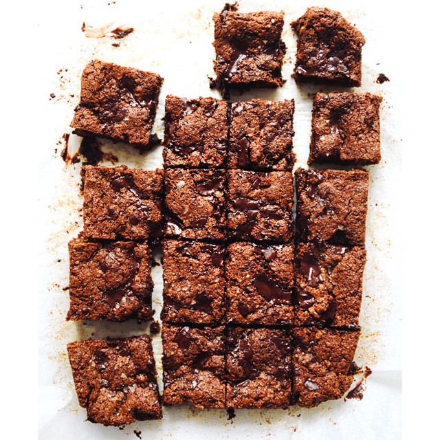 Nut Butter Brownies With Chocolate Chunks