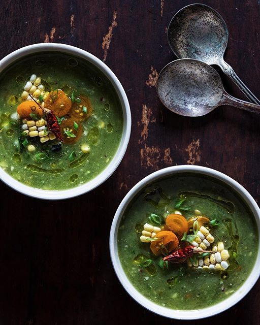 Green Gazpacho With Corn And Cucumbers
