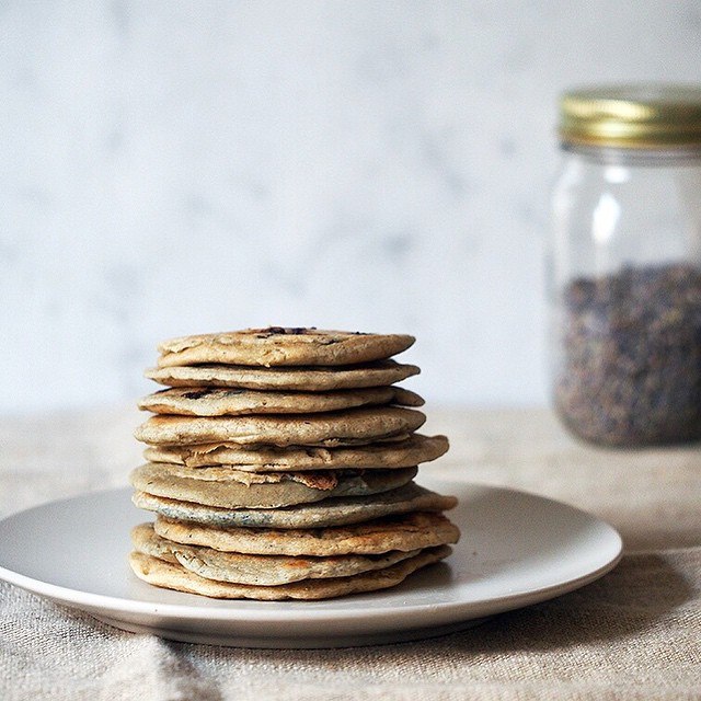 Sprouted Oat & Blueberry Lavender Pancakes