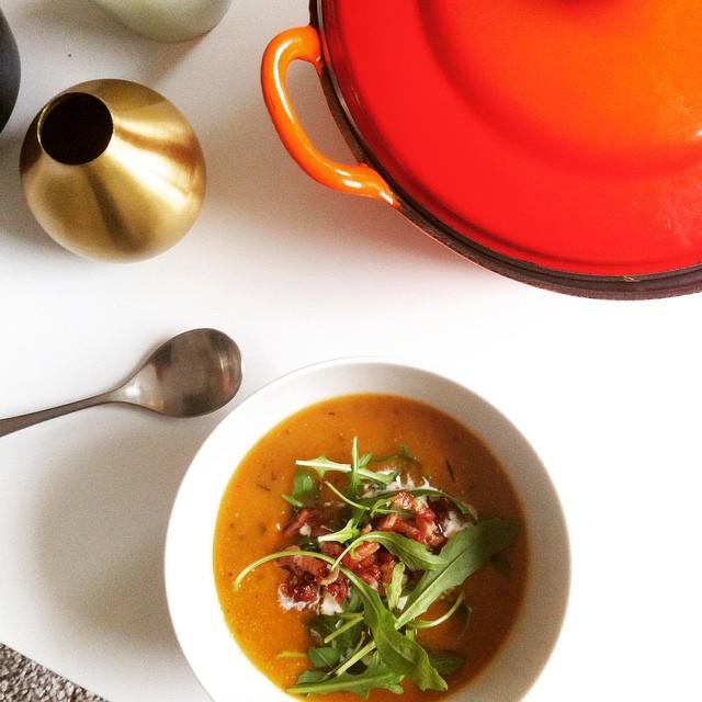 Sweet Potato Rosemary Soup • Tijn Jans