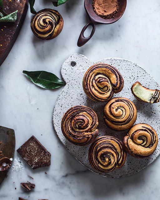Orange Chocolate Brioche Rolls