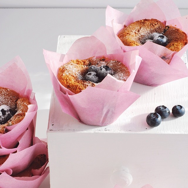 Almond And Blueberry Muffins