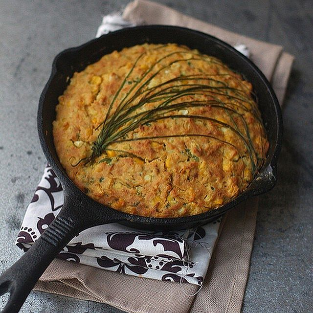 Spicy Skillet Cornbread With Jalapeños And Chives