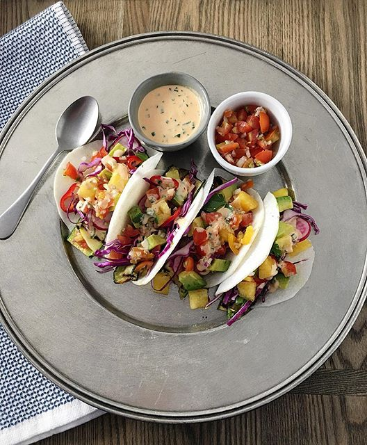 Jicama Tacos With Roasted Red Pepper Sauce