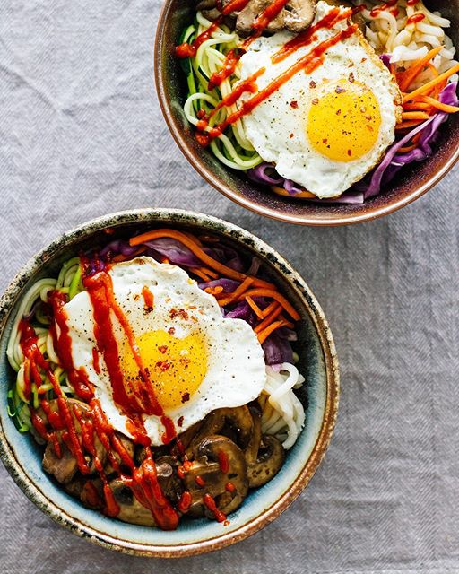Red Cabbage And Fried Mortadella Okonomiyaki Recipes: Spicy Udon Noodle Bowls With Zucchini Noodles, Shredded