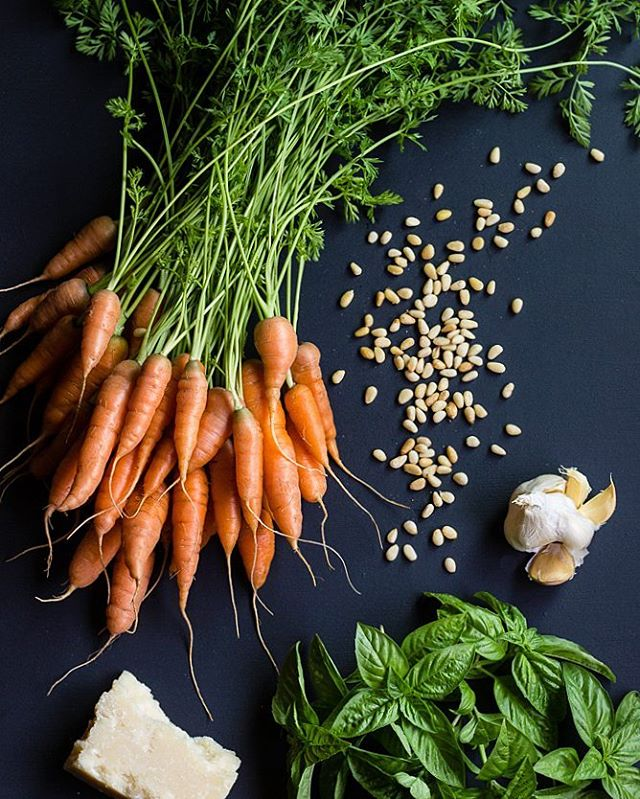 Carrot Top Pesto And Roasted Carrots