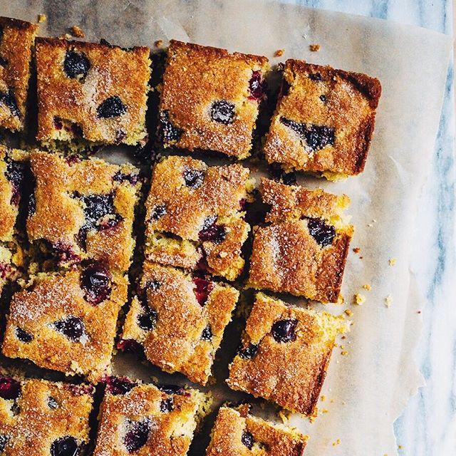 Concord Grape Cornmeal Cake