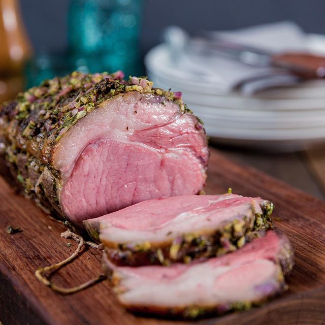 Herb Rubbed Rare Roast Beef