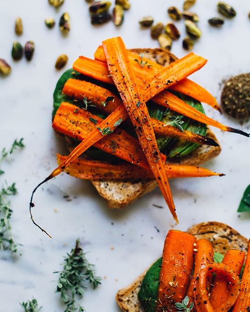 I seem to be going through a carrot phase GF/V toast + avocado +  roasted carrot toasts. I added…