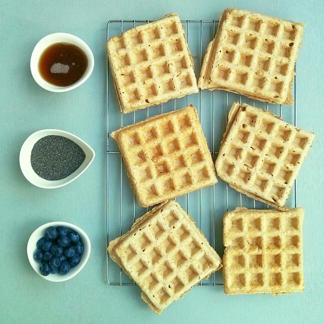 Chia Seed Whole Wheat Waffles & Almond Milk
