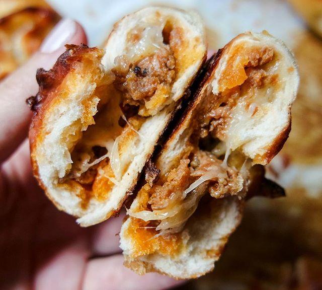 Stuffed Pretzel Buns With Chorizo & Mozzarella