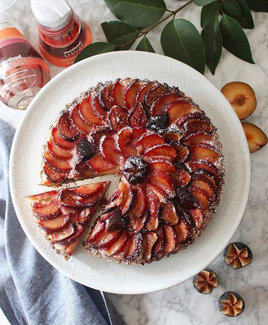 Frangipane Tart With Figs And Plums