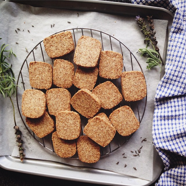 Lemon + Lavender Almond Shortbread