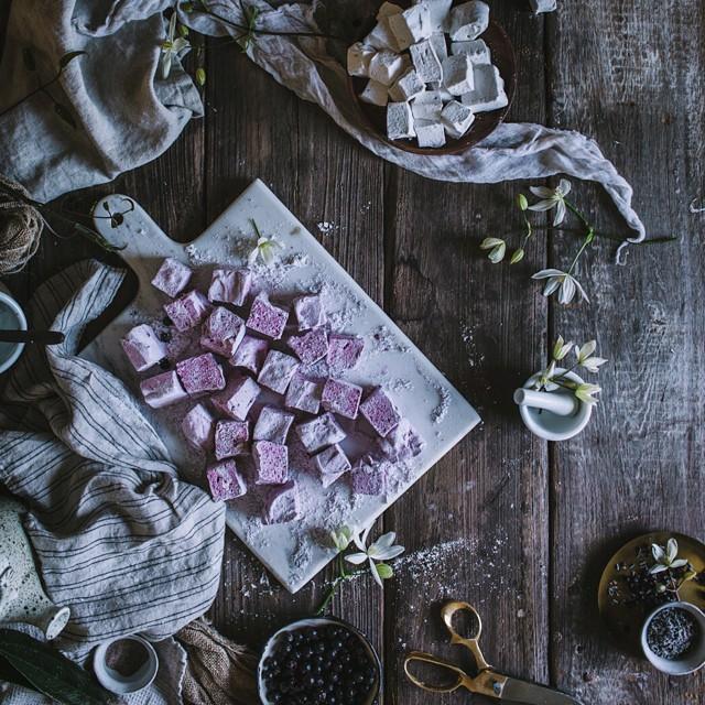 Lavender Blackcurrant Marshmallows