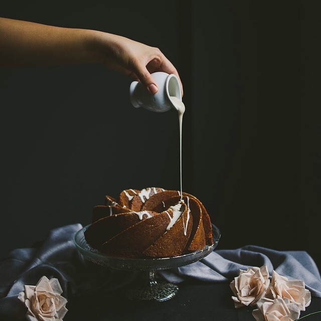 Buttermilk And Earl Grey Bundt Cake With Lavender & Honey Icing