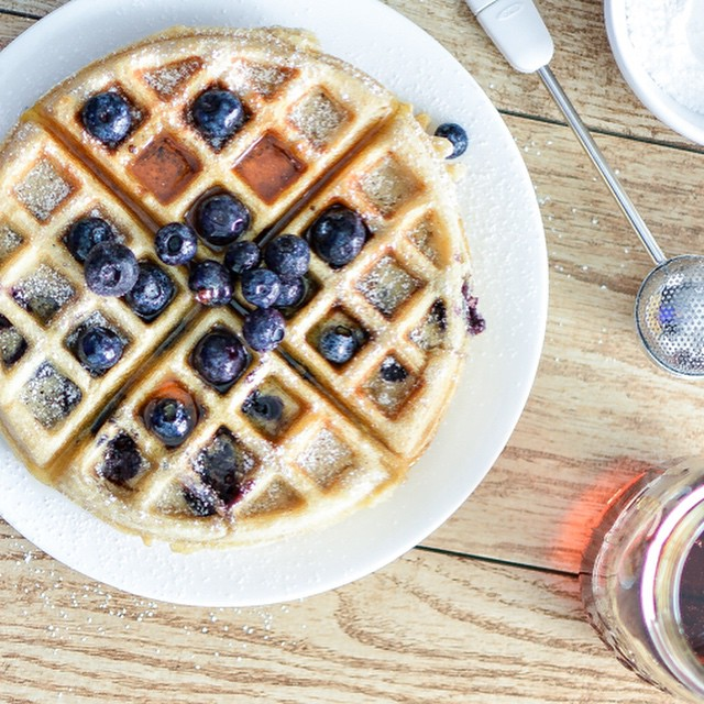 Lemon And Blueberry Buttermilk Waffles