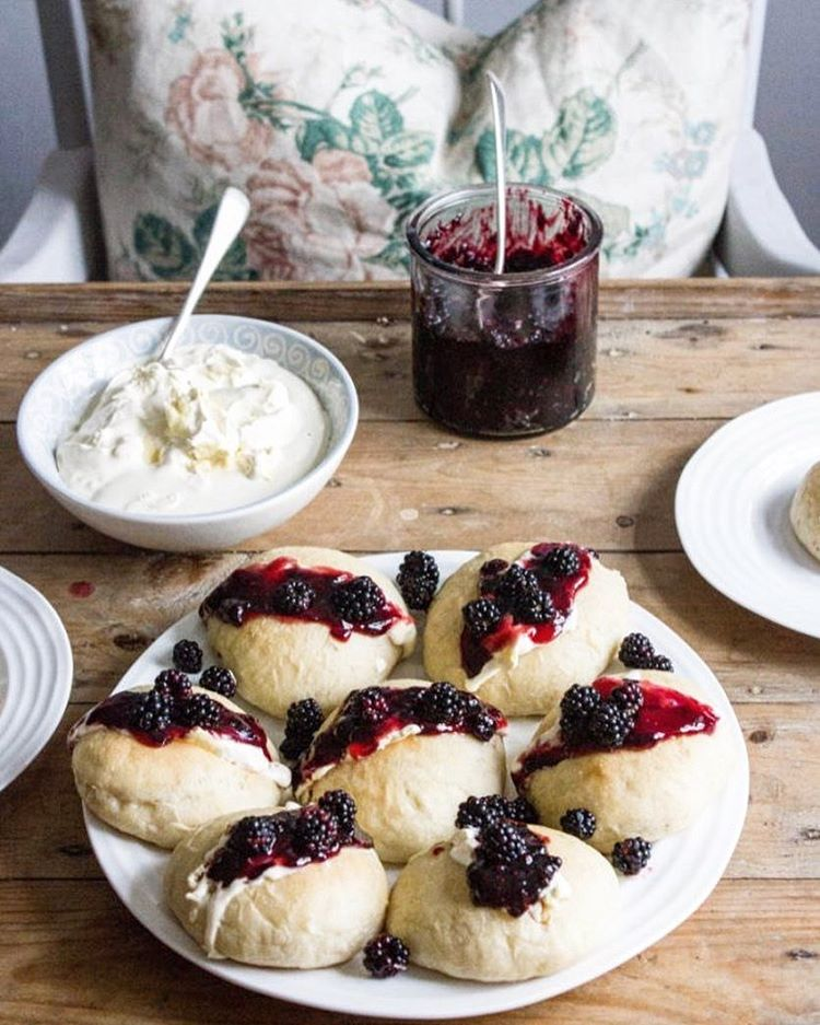 Devonshire Splits (Along with one for homemade clotted cream and blackberry jam)