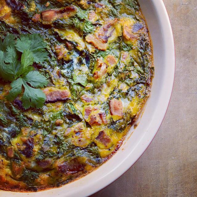 Paleo Green Eggs & Ham Breakfast Pie