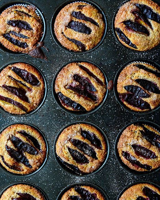 Plum, Cinnamon And Buttermilk Muffins