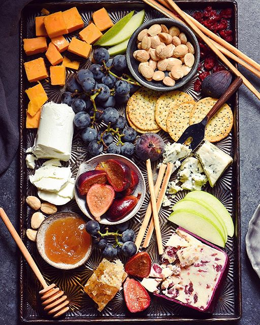 Autumn Cheese Board with Ginger Pickled Figs.