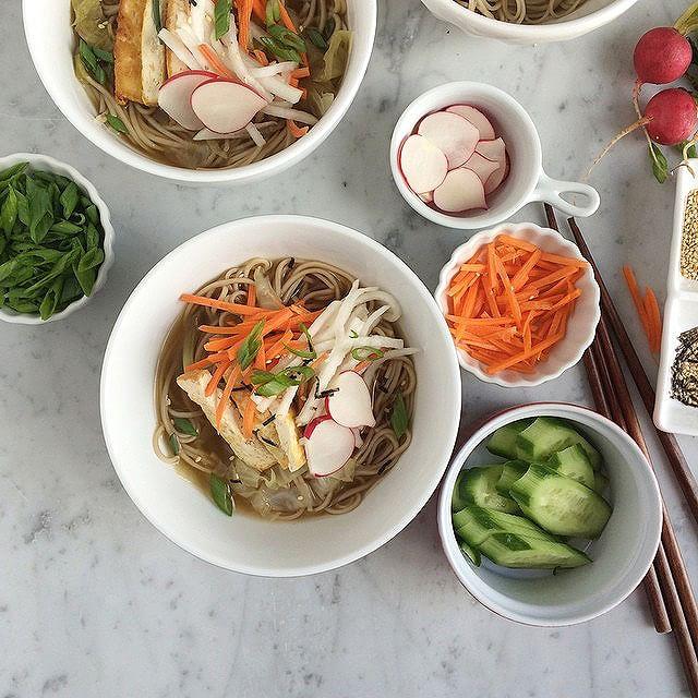 Soba Noodle Broth Bowls