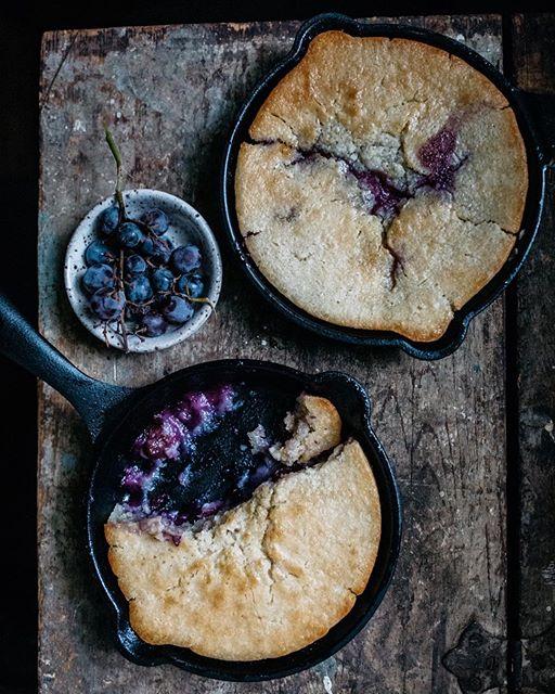 Concord Grape Skillet Cobbler