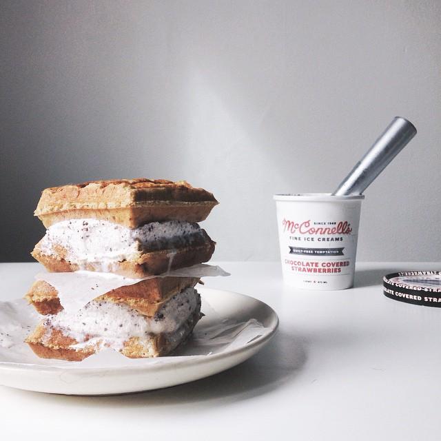 Grain-free Waffle Ice Cream Sandwich