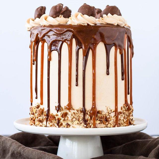 Chocolate Pecan Layer Cake