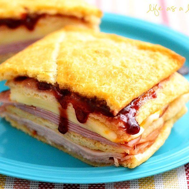 Turkey And Ham Sandwich With Raspberry Jam recipe by H O L L Y L O F T H O  U S E | The Feedfeed