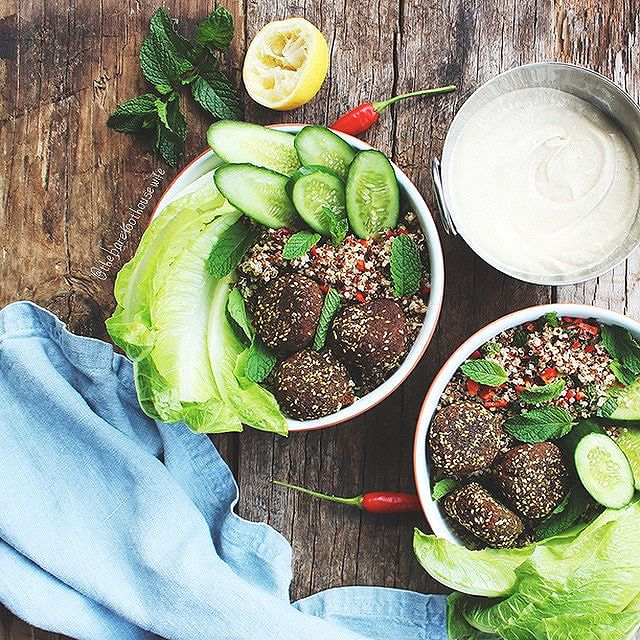 Zaatar Falafel Bowls And Babaghanoush