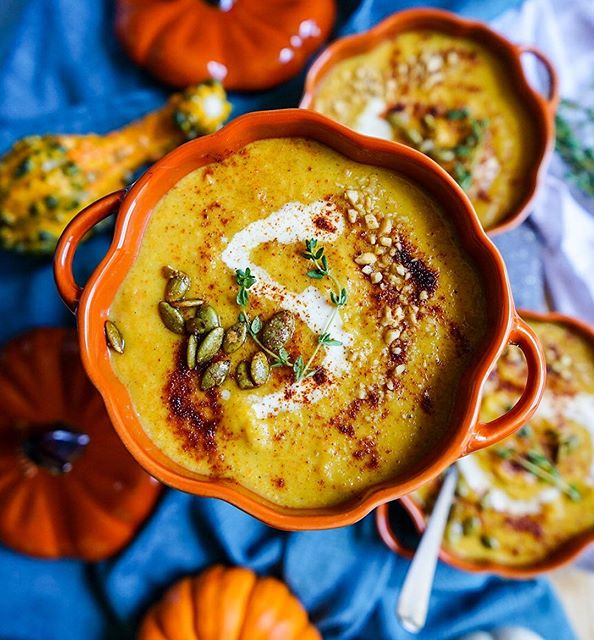 Roasted Acorn-butternut Squash Soup