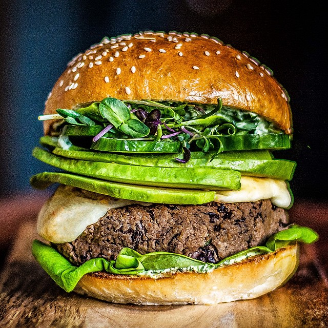 Black Bean Green Goddess Burger