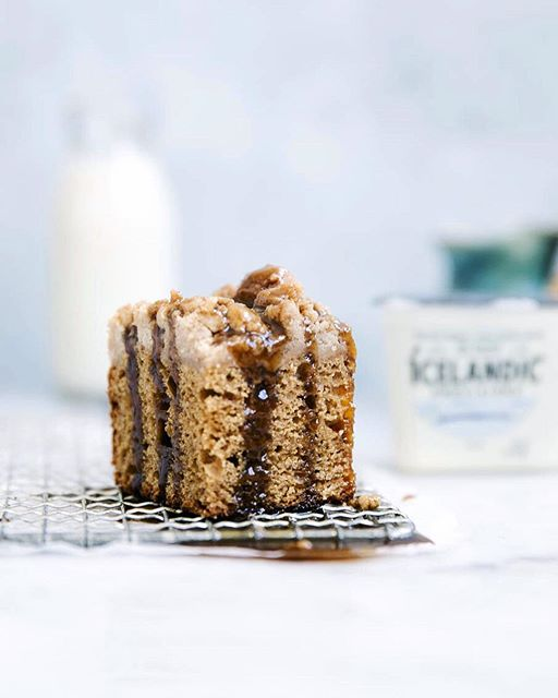 Spiced Skyr Cake With Brown Sugar Crumb Topping