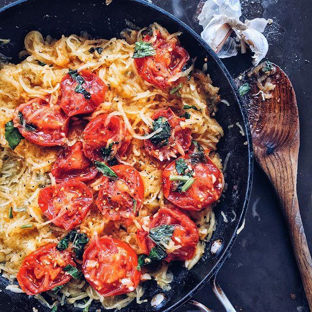 Spaghetti Squash With Sautéed Tomatoes