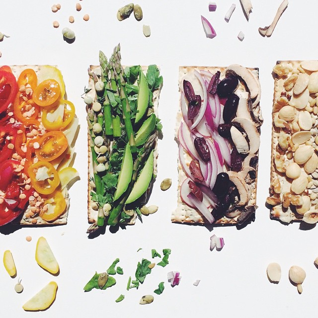 Superfood-topped Matzos
