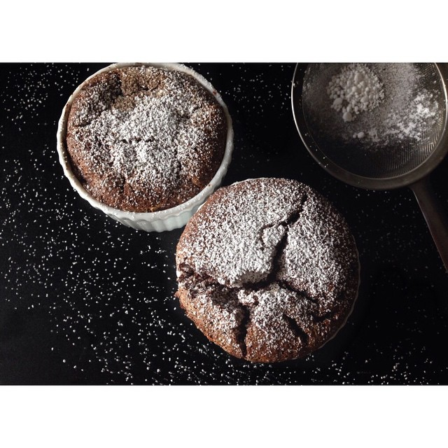 Chocolate Souffle With Cinnamon & Vanilla
