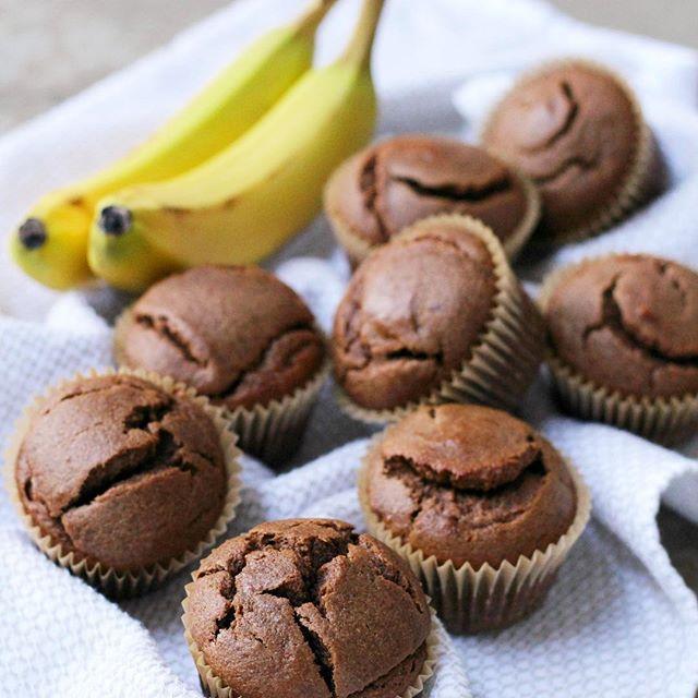 Grain Free Banana Chocolate Muffins