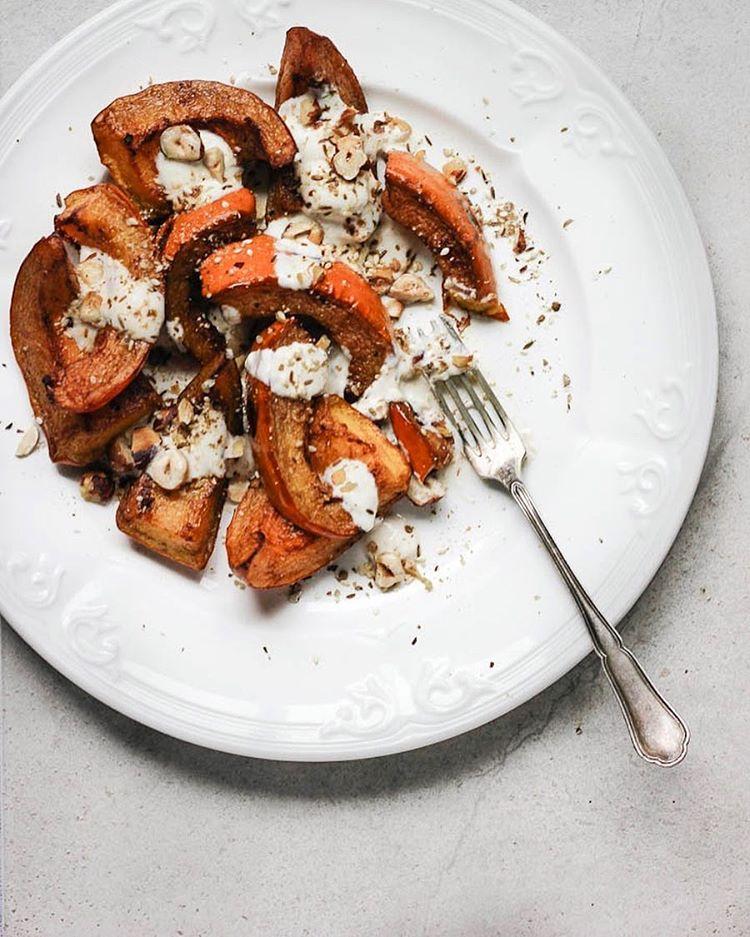Cinnamon Roasted Pumpkin With Hazelnut Dukkah