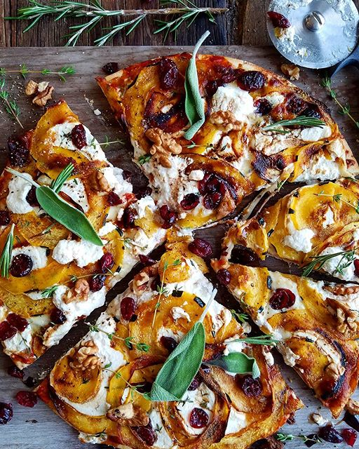 Roasted Delicata Squash And Ricotta Pizza