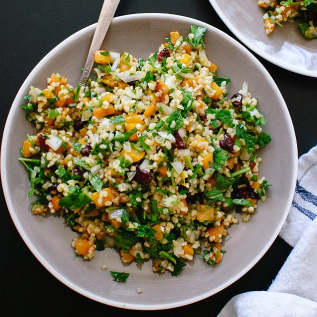 Butternut Tabbouleh With Bulgur Wheat, Tomato, Lemon Juice & Fresh Herbs