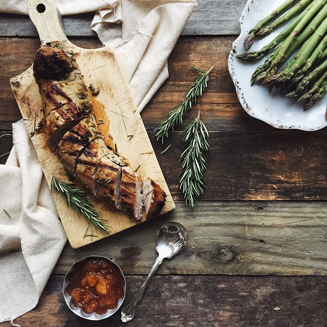 Roasted Rosemary Pork Loin With Plum Chutney