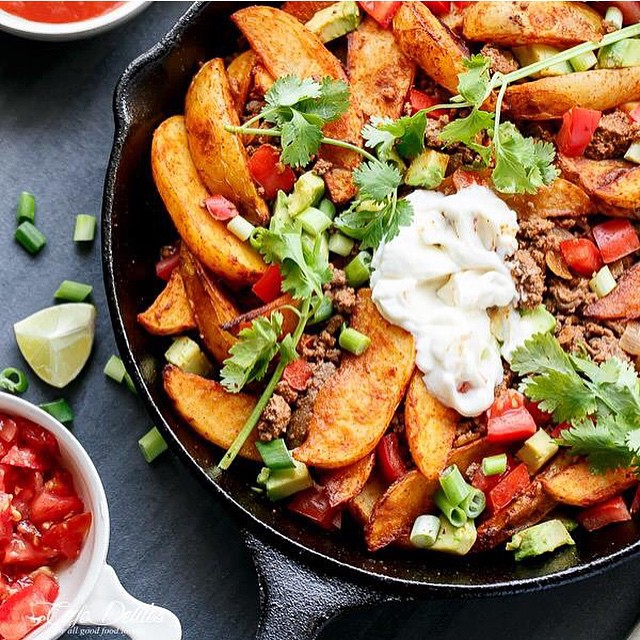 Smokey Mexican Beef Potato Wedges