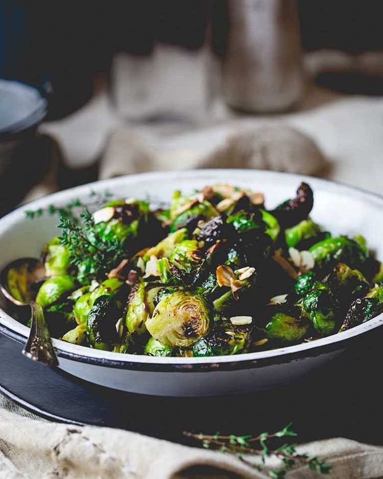 New! Roasted Brussels Sprouts with Balsamic and Thyme. Just in case you happened to eat too many…