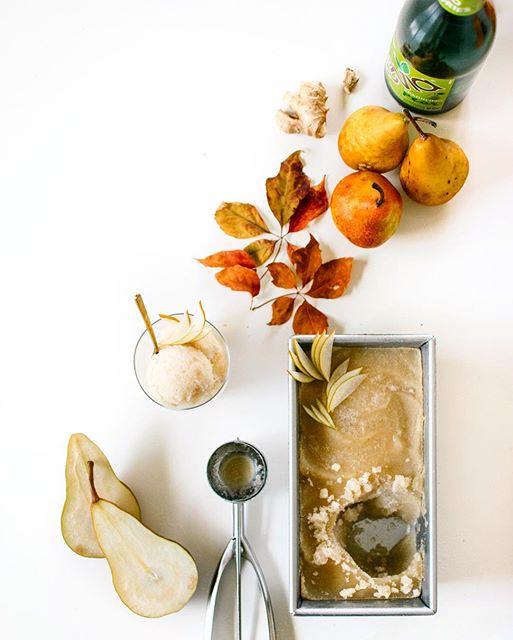 Bourbon Pear Sorbet