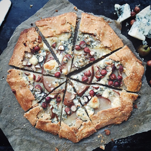 Pear & Blue Cheese Galette With Hazelnuts