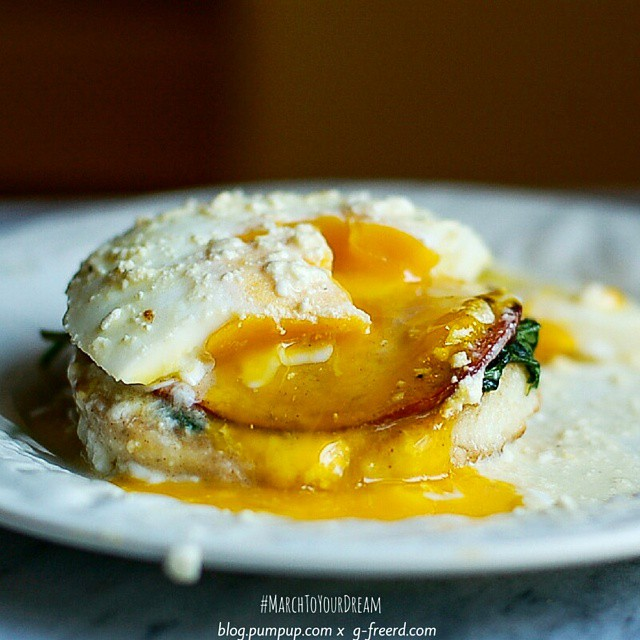 Eggs Benedict With Healthier Hollandaise Sauce