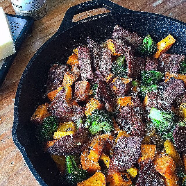 Sweet Potato And Broccoli Skillet