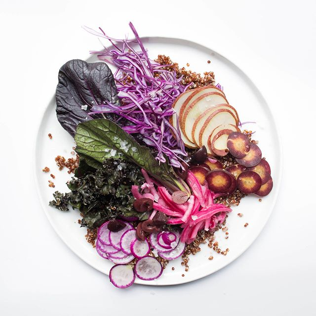 Purple Rain Salad. Because purple veggies are good for you. And because Prince, of course.  Bliss!