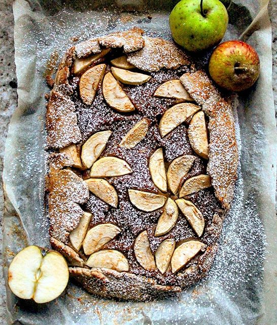 Sunday baking? I made this windfall galette for my family last night but we ate too much dinner &…