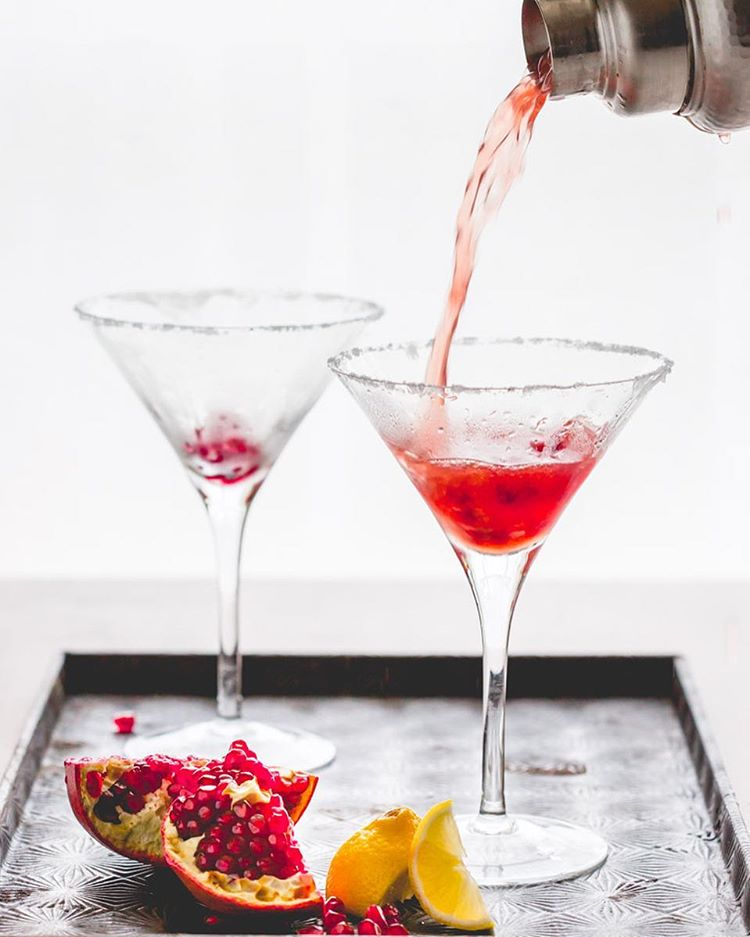 Pomegranate Lemon Drop Martinis anyone??? To be totally honest I was going to share a pic from my…